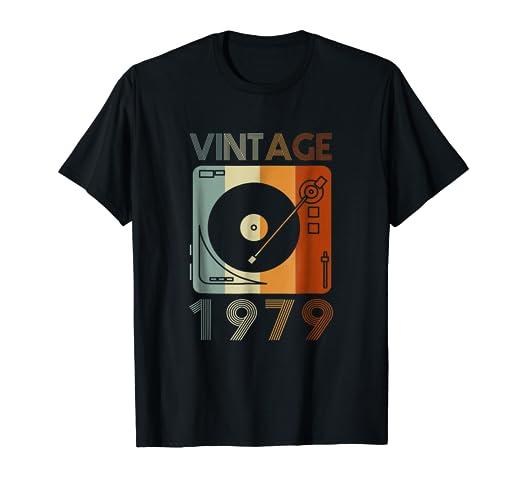 Amazon Vintage 1979 Retro Record Player Birthday Vinyl DJ T
