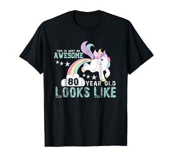 Happy 80th Birthday Gift Ideas T Shirt
