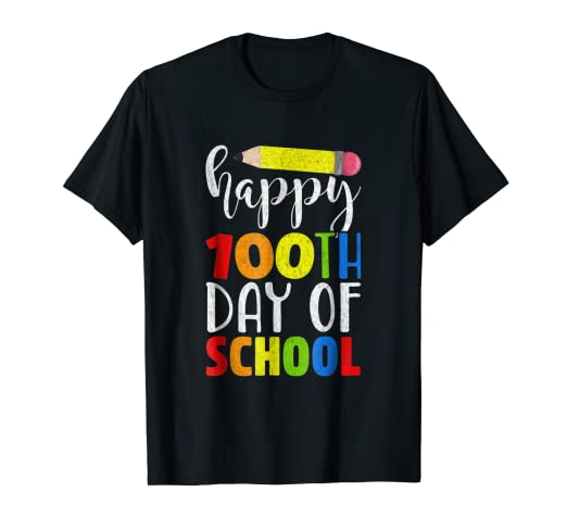 Amazoncom Happy 100th Day Of School Shirt For Teacher Or Child