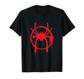 20369616aac96 Image Unavailable. Image not available for. Color: Marvel Spider-Man Into  the Spider-Verse Red Icon T-Shirt