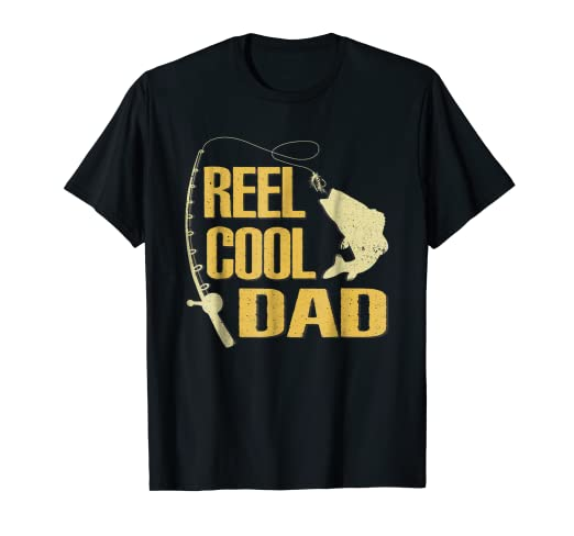 efaf8b28 Image Unavailable. Image not available for. Color: Reel Cool Dad T-Shirt  Fishing Fathers Day Gifts ...
