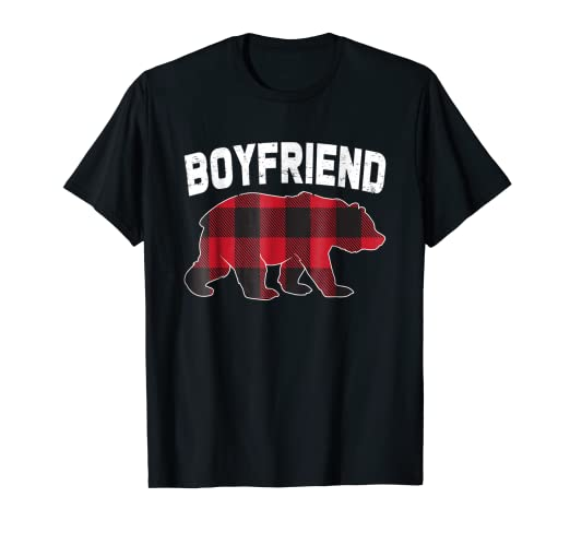 4fec431085ef Image Unavailable. Image not available for. Color  Red Plaid Boyfriend Bear  Costume Matching Family TShirt Gift