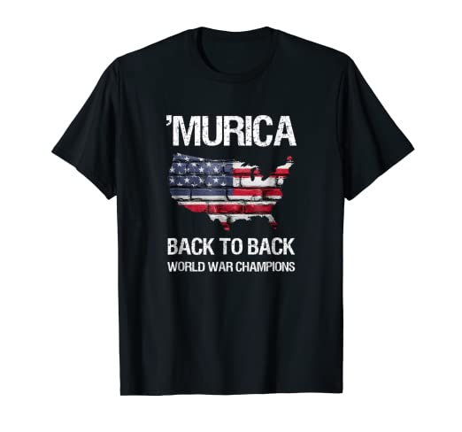 d2487cd9a Image Unavailable. Image not available for. Color: Murica Back to Back  World War Champions T-Shirt