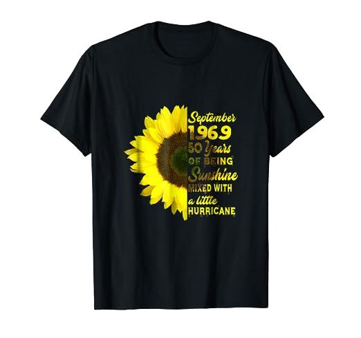 Amazon September 1969 50 Years Birthday Shirts For Women Xmas