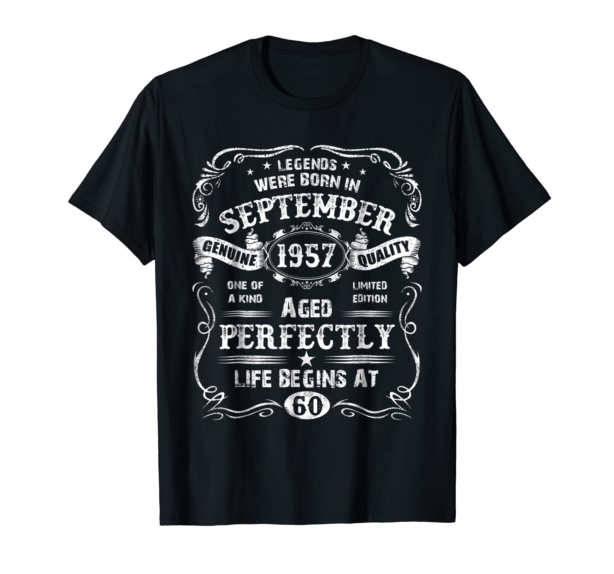Amazon Mens Legends September 1957 Gift Ideas 60th Birthday T Shirt Clothing