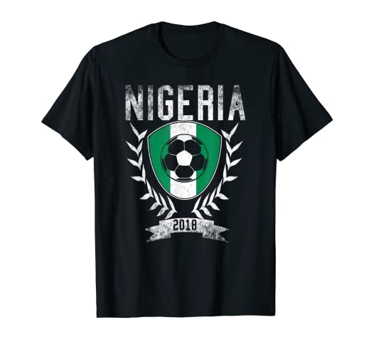 Amazon.com  Nigerian Football Cup 2018 T-Shirt - Nigeria Soccer ... 61678f5b5