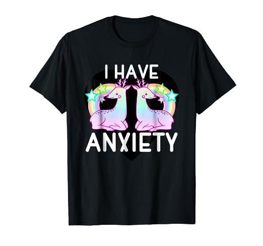 36ac9d962870 Amazon.com  Kawaii pastel goth shirt I have anxiety Cute tshirt ...