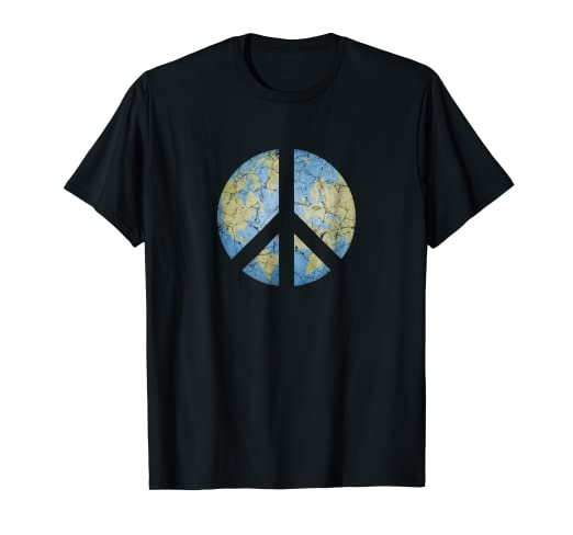 101e4fcc56fb Amazon.com  Vintage Peace On Earth World Peace T-Shirt  Clothing