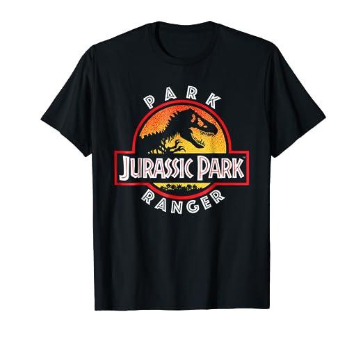 5bb37fcf Amazon.com: Jurassic Park Circle Park Ranger Graphic T-Shirt: Clothing