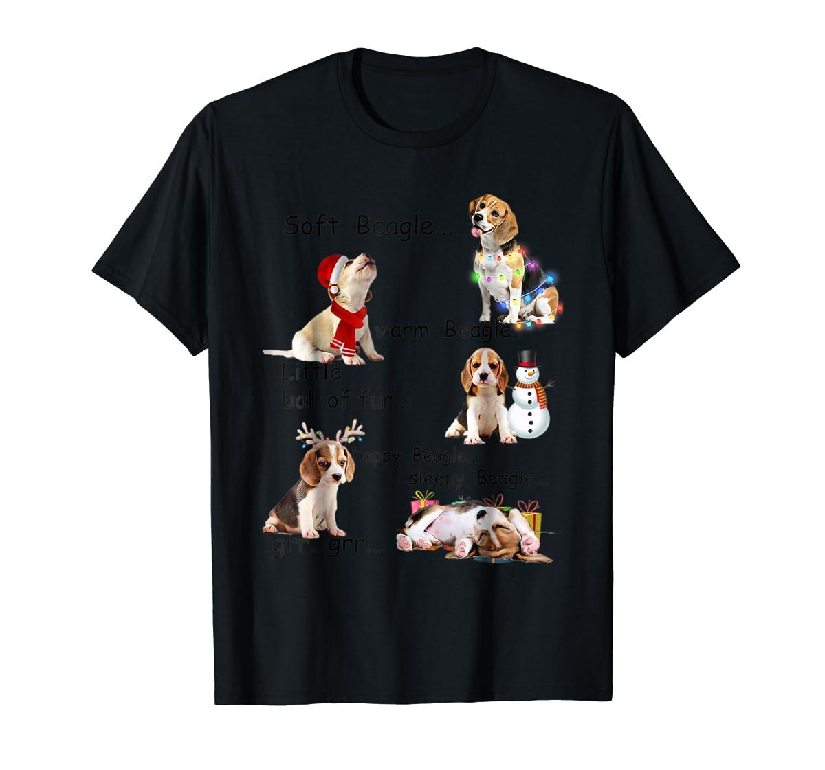 Beagle 5 Shades - Nice Dog Christmas Tshirt-Men's T-Shirt-Black