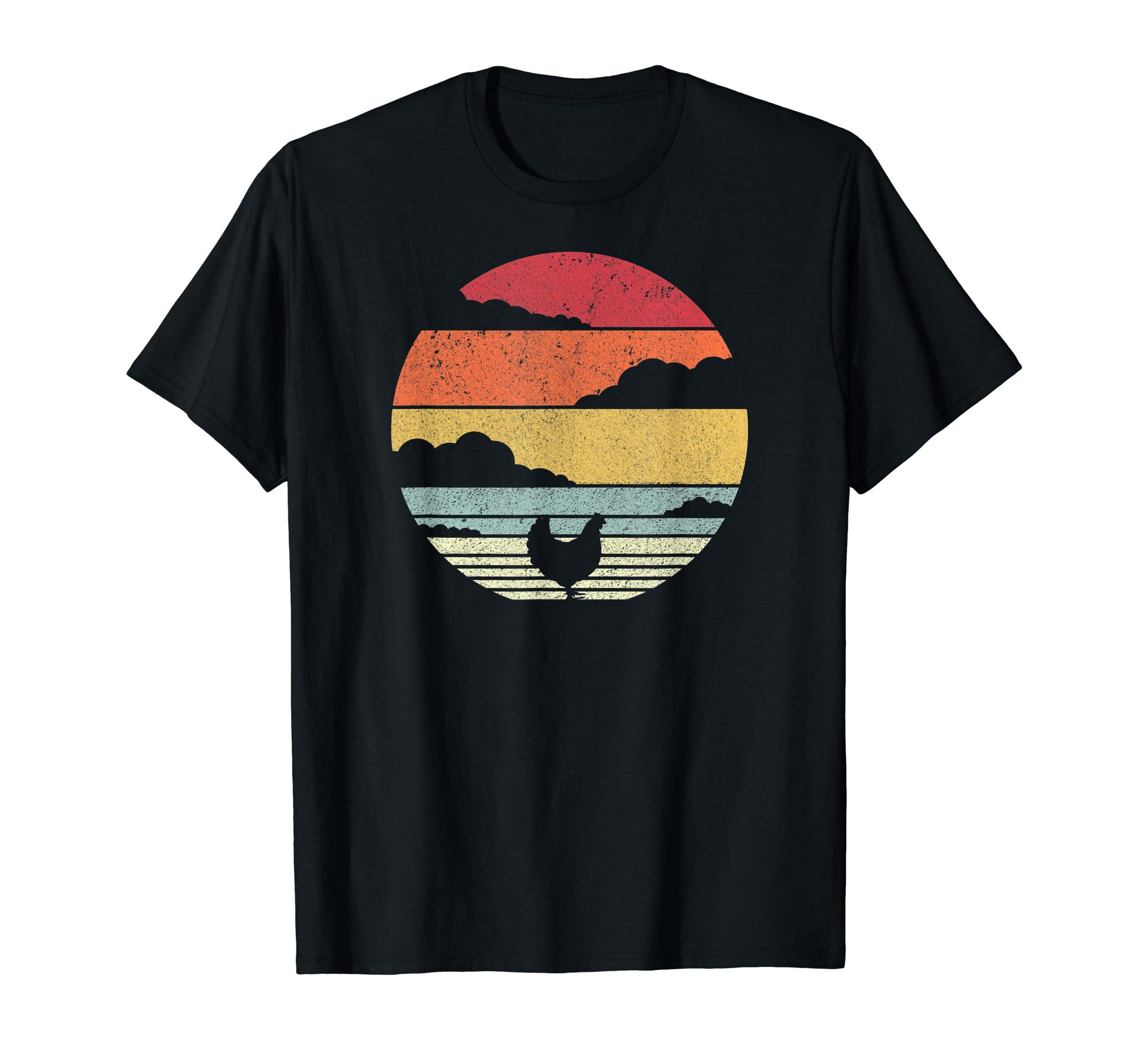 Chicken Shirt. Retro Style T-Shirt-Men's T-Shirt-Black