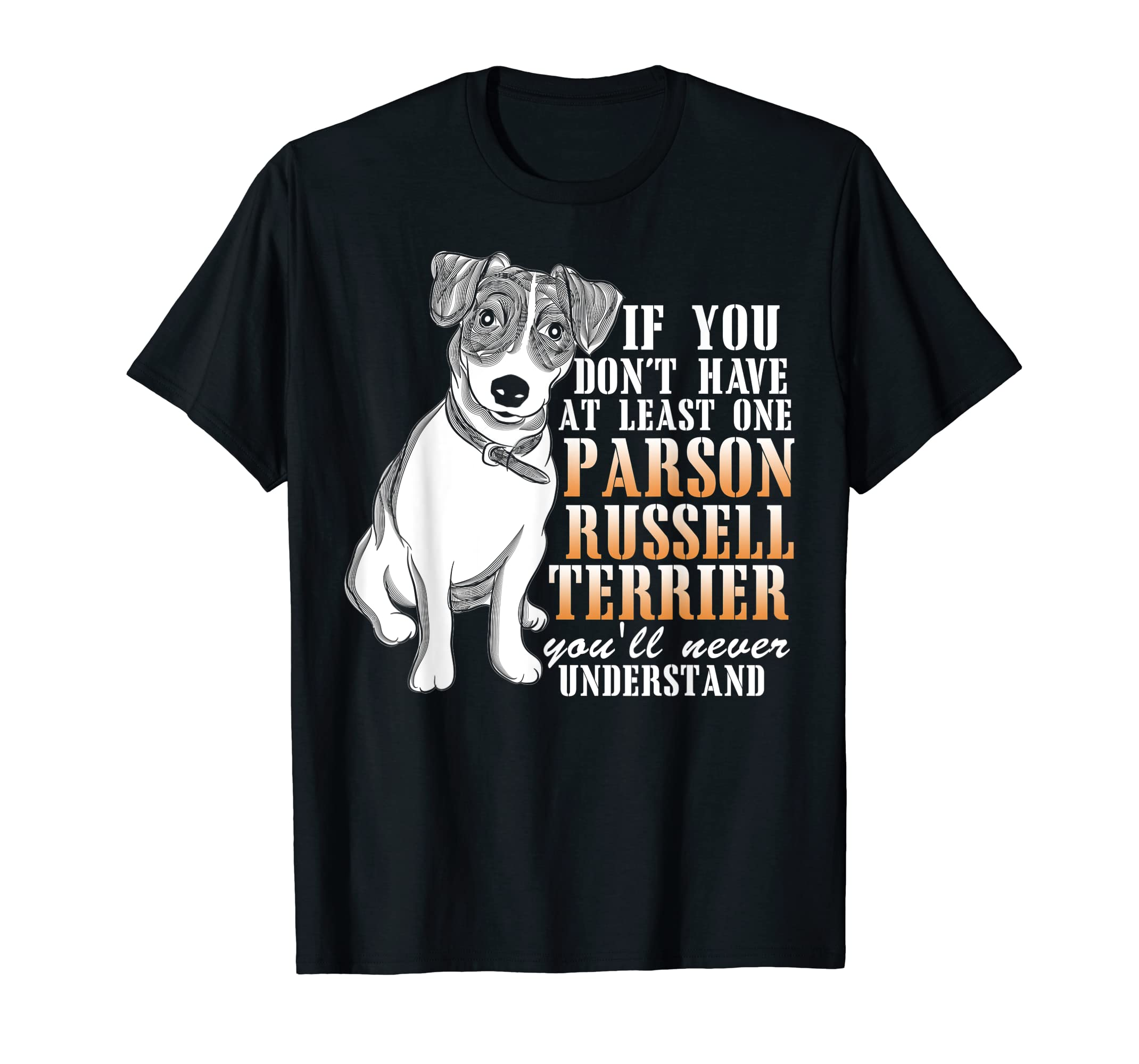 Parson Russell Terrier T Shirt, I Love My Dog T Shirt-Men's T-Shirt-Black
