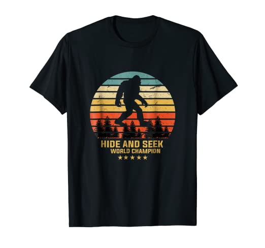 752ca3f9db9f Image Unavailable. Image not available for. Color: Hide and seek world  champion shirt bigfoot is real funny. Roll over image to zoom in. Bigfoot  TShirts