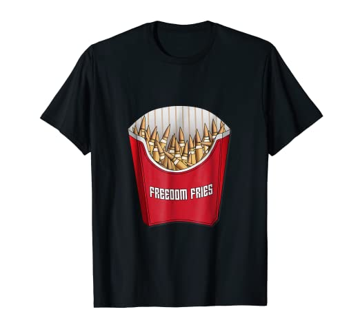 7aafd3d50 Image Unavailable. Image not available for. Color: 2nd Amendment Freedom  Fries Ammo Army T-Shirt
