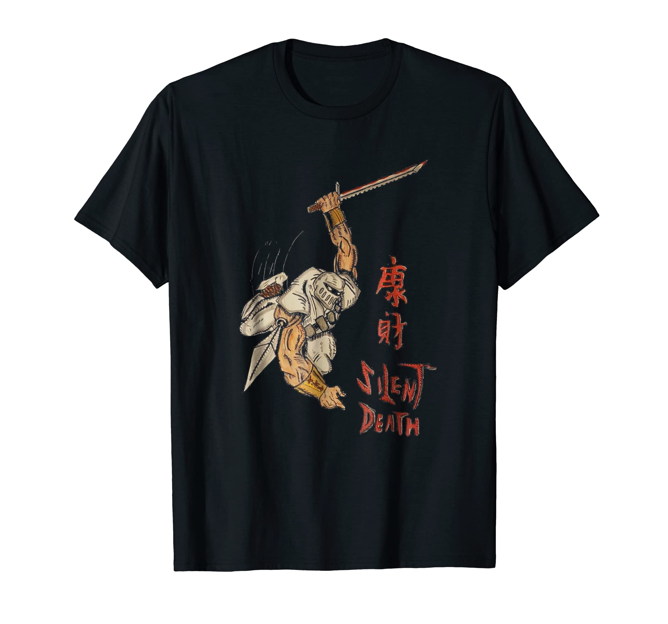 Amazon.com: Silent Death Original Artwork Ninja Kanji T ...
