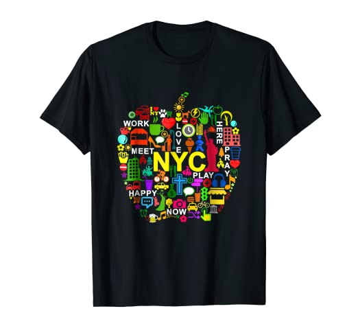 f27e64efdf4b Image Unavailable. Image not available for. Color  I LOVE NYC T-Shirts NEW  YORK CITY ...