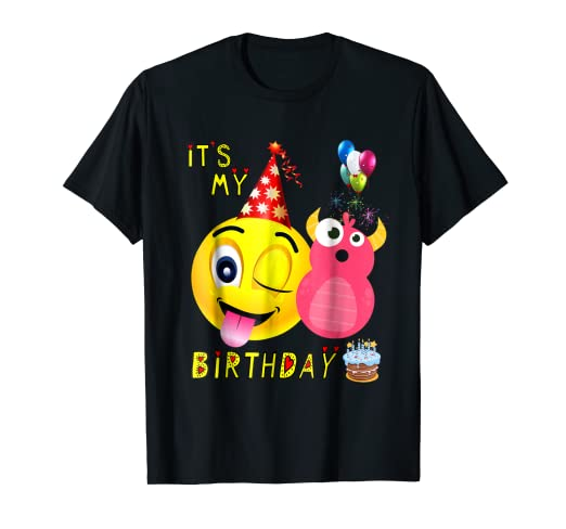 Its My 8th Birthday Party Shirt For Kids 8 Year Old Gift