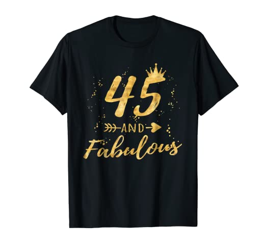 Amazon 45th Birthday Gifts For Women 45 And Fabulous Party