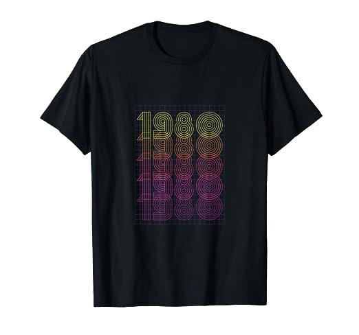 Amazon.com: 1980 Camiseta Vintage Regalo Cumpleanos dia de ...