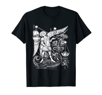 4273d31a4 Image Unavailable. Image not available for. Color: St Michael the Archangel  T-Shirt