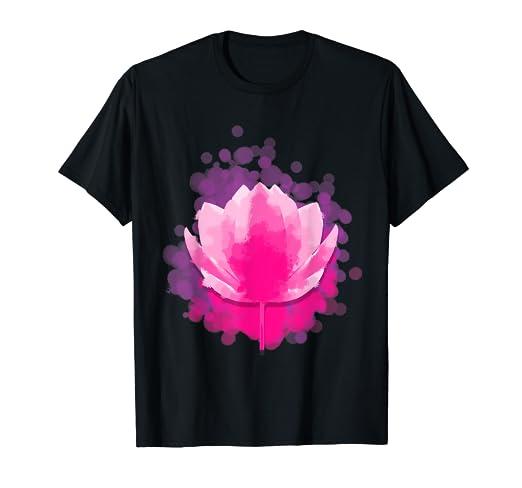 Amazoncom Lotus Flower Yoga Meditation T Shirt Cool Yogis Pose