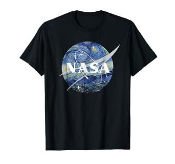 8629dda0c57 Amazon.com  NASA Starry Night Classic Chevron Logo Graphic T-Shirt ...