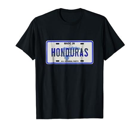 Amazon.com: Made in Honduras shirt Catracho tshirt Camiseta de Placa: Clothing