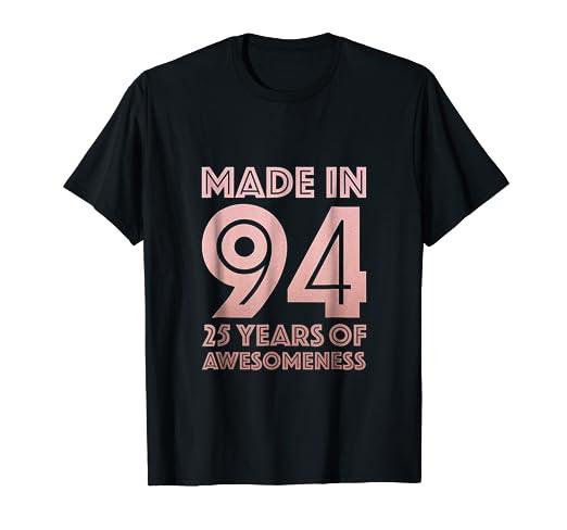 Amazon 25th Birthday Shirt Women Gifts 25 Year Old Daughter