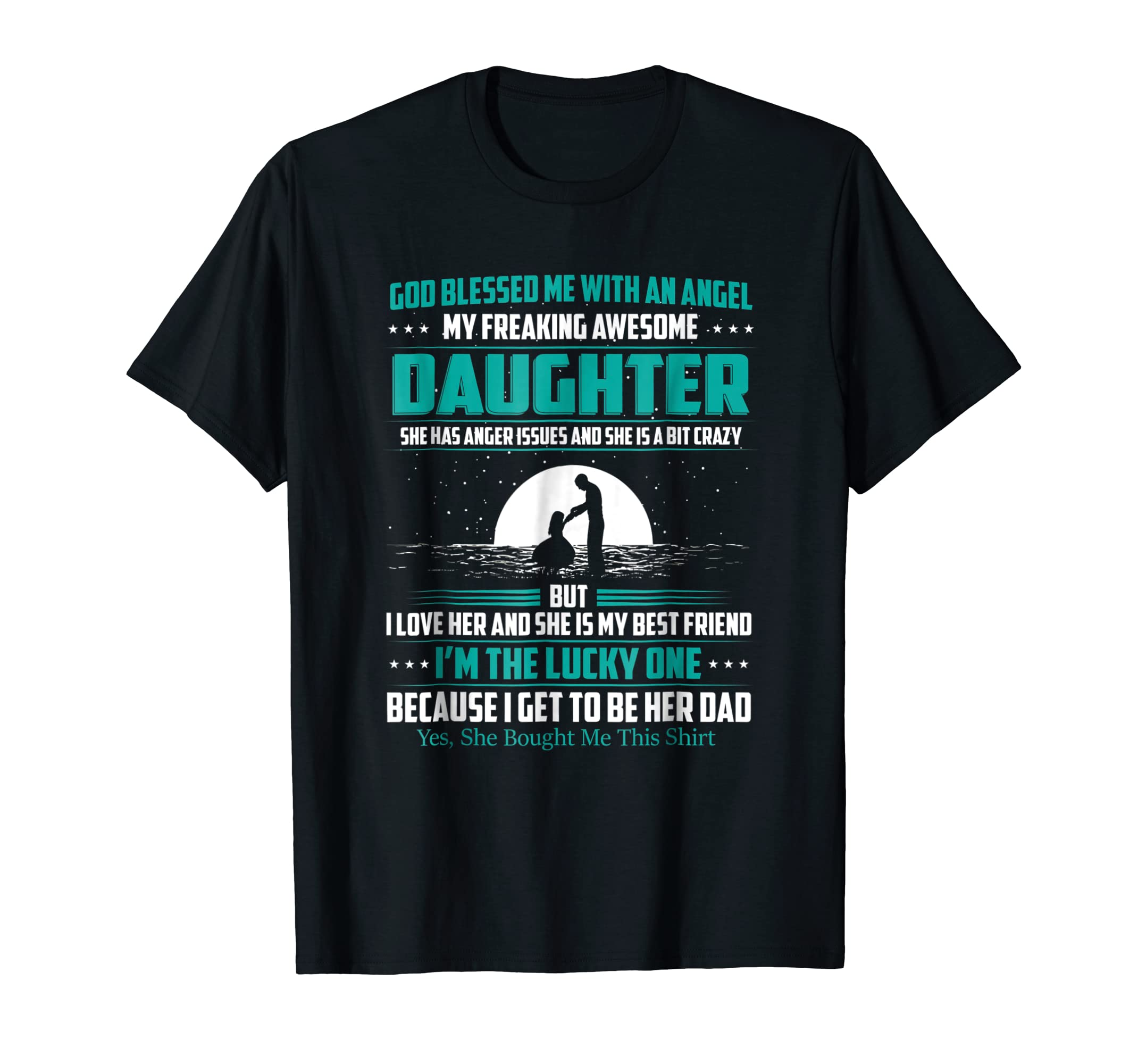 f93111ce Amazon.com: Mens My Freaking Awesome Daughter Bought Me This Shirt: Clothing