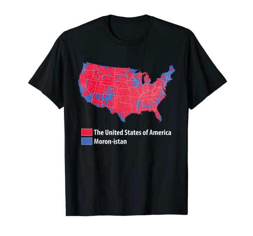 c40f987fd Image Unavailable. Image not available for. Color: USA Election 2016  Results Map DonaldTrump T Shirt