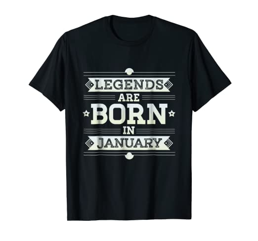 e3712853f Image Unavailable. Image not available for. Color: Funny Legends are Born  in January ...