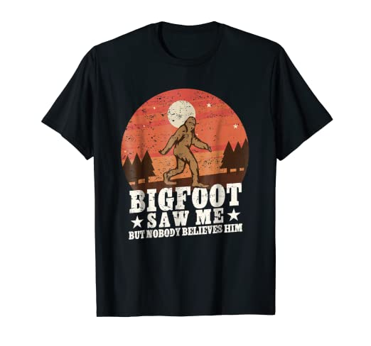 5171adf07741 Image Unavailable. Image not available for. Color: Bigfoot Saw Me Shirt  Funny Sasquatch Hide And Seek Champion