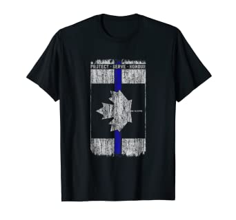 f0199c75c97 Image Unavailable. Image not available for. Color  Thin Blue Line Canada T  Shirt ...