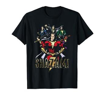 64574ba313342 Amazon.com: Shazam! Movie Hero Group T Shirt: Clothing