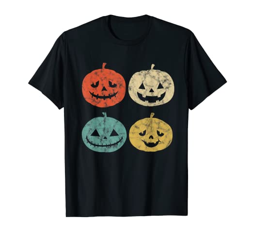 e573712e Amazon.com: Vintage Pumpkin T-Shirt Funny Pumpkin Halloween Gift ...
