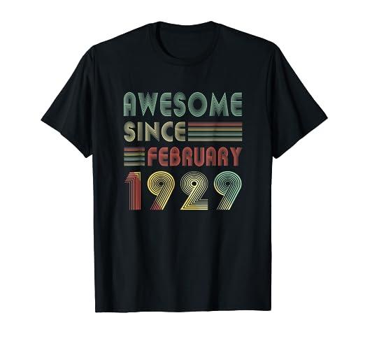 Amazon February 1929 TShirt 90 Years Old 90th Birthday