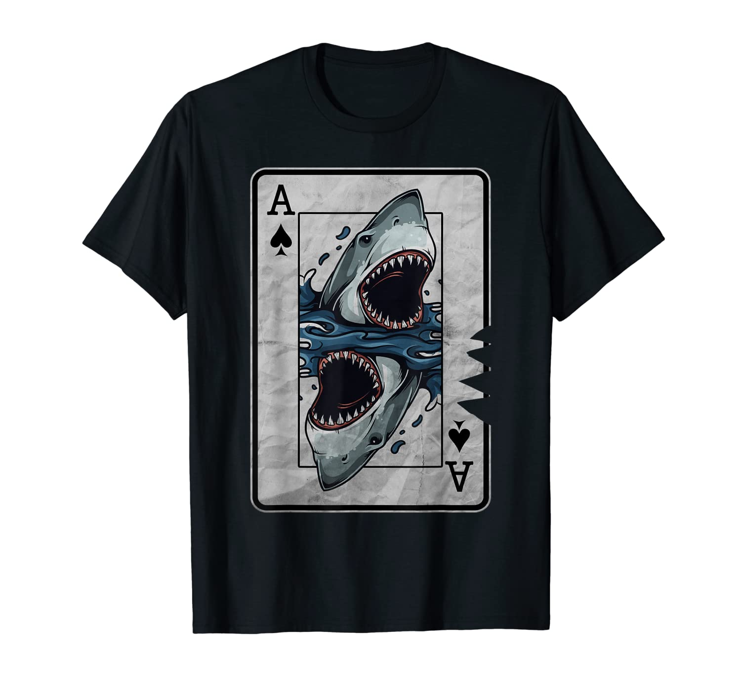 Poker Card Costume T-Shirt Great White Shark