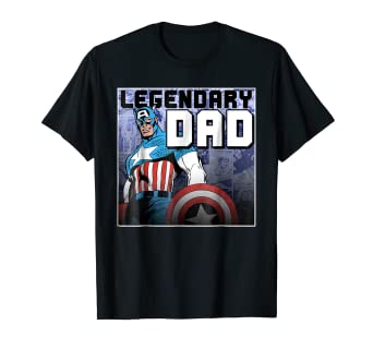 89672358 Image Unavailable. Image not available for. Color: Marvel Captain America  Father's Day Legend Graphic T-Shirt