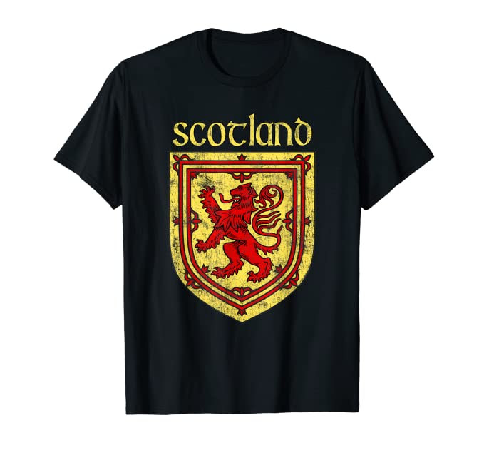 Scottish Rampant Lion T-Shirt Scotland Coat of Arms Shirts