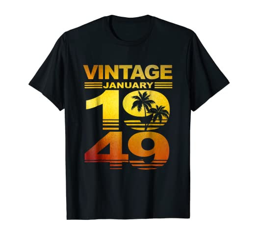 Amazon Aloha Hawaii January 1949 T Shirt 70th Birthday