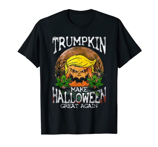9e6b2a9571a Image Unavailable. Image not available for. Color  Trumpkin Shirt Make  Halloween Great Again Trump T-Shirt Gift