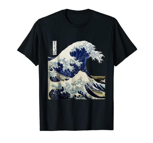 ae59fb6d36a9 Image Unavailable. Image not available for. Color  Kanagawa Japanese The  great wave T shirt