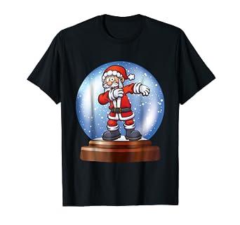 Amazoncom Funny Dabbing Christmas Santa Snow Globe T Shirt Clothing