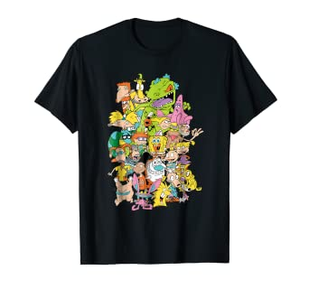 b51f58ea3662 Amazon.com: Nickelodeon Complete Nick 90s Throwback Character T ...