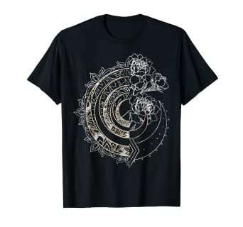Amazon com: Celestial Floral Crescent Moon Gold Foil Texture