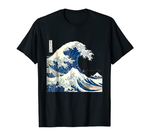00d0c8863 Image Unavailable. Image not available for. Color: Vintage Graphic Art Shirt  ~Japanese Artist Katsushika Hokusa