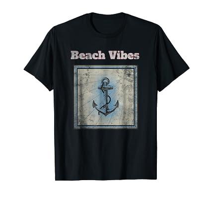 Vintage Anchor Tee Shirt in nautical sea shore ocean theme