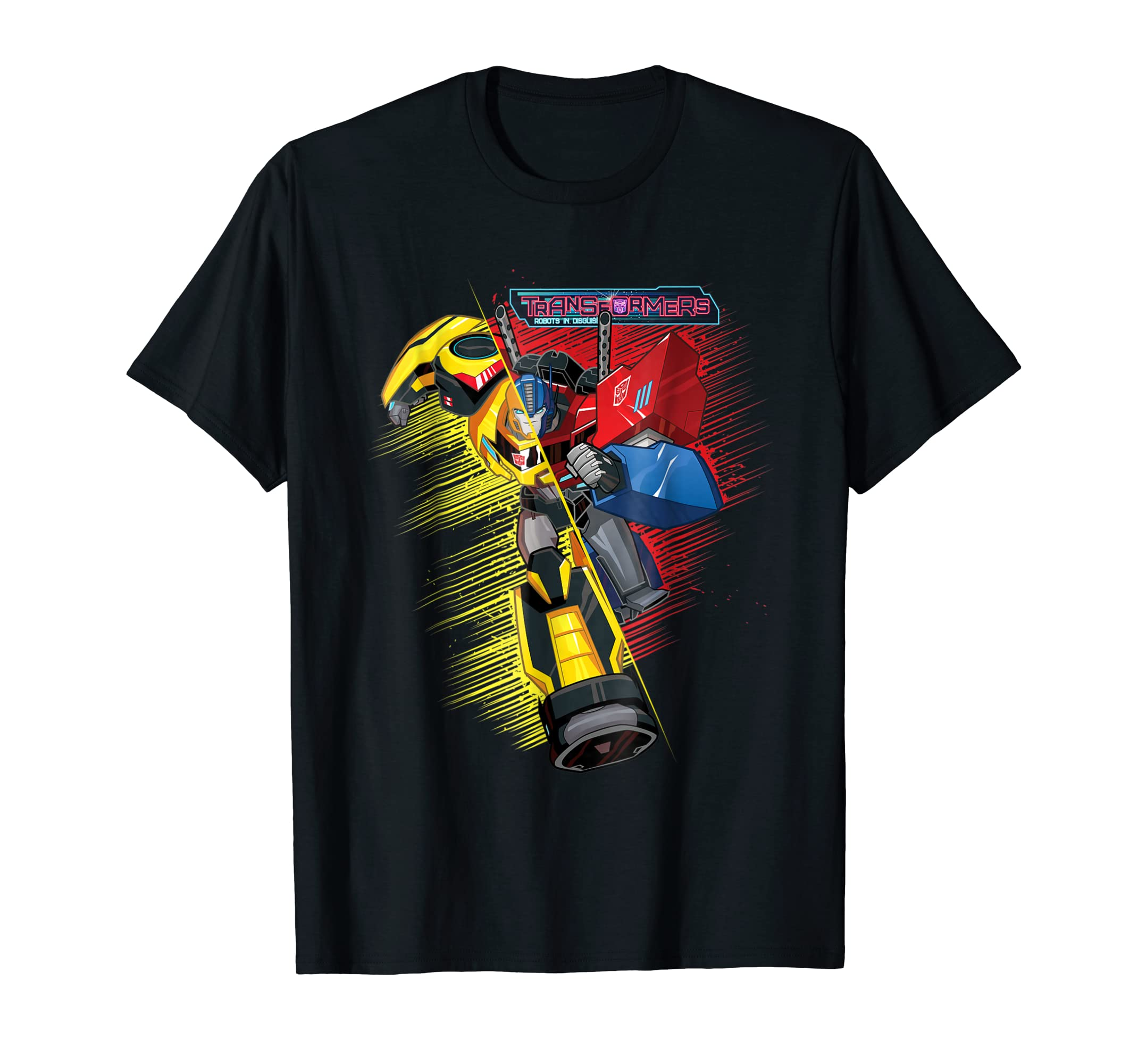 Transformers Bumble Bee And Optimus Prime Hybrid T-Shirt-Men's T-Shirt-Black