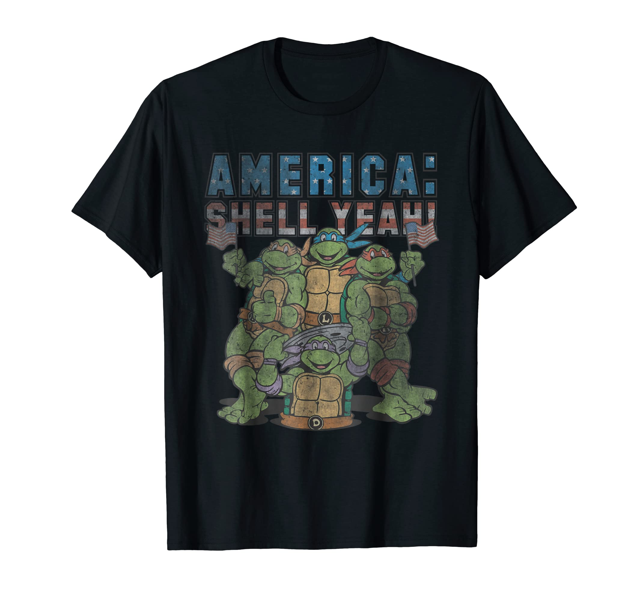 Teenage Mutant Ninja Turtles America: Shell Yeah! T-Shirt-Men's T-Shirt-Black