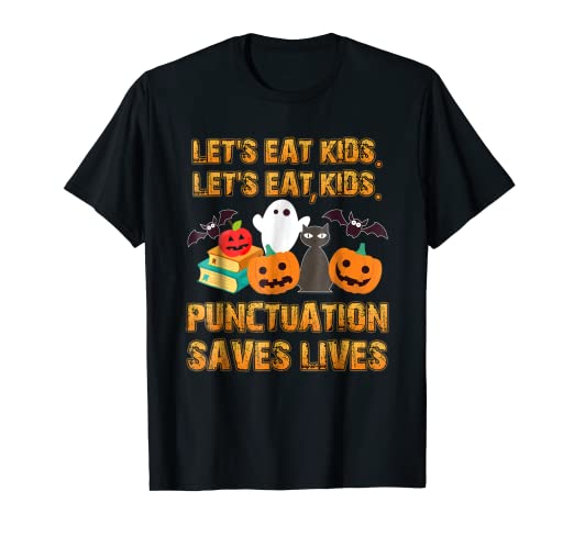 0abfca309ae Amazon.com  Halloween Shirt  Lets Eat Kids Teacher Shirt  Clothing